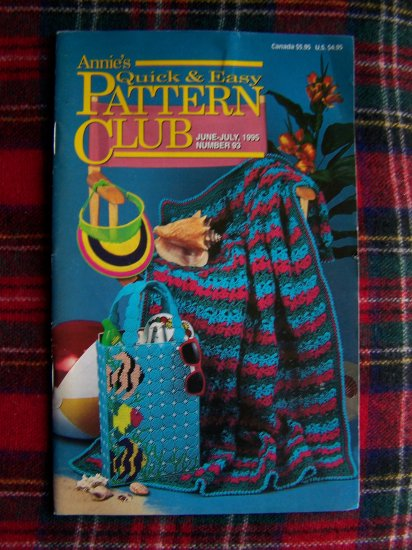 Annie's Quick & Easy Pattern Club Book # 93 June July 1995 Needlepoint Patterns