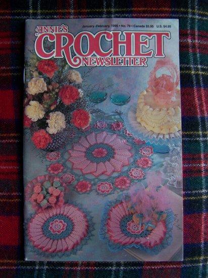 1990s Annies Crochet Pattern Newsletter Book 79 Jan Feb