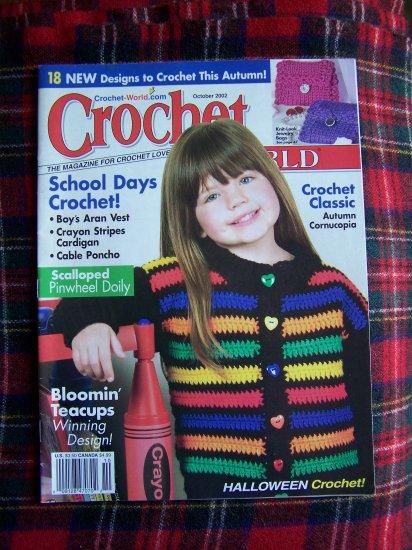 Oct 2002 Crochet World Pattern Magazine Halloween Fall Patterns