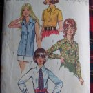 USA 1 Cent S&H 70's Vintage Sewing Pattern 5022 Misses 16 Set of Blouses Shirts Patterns