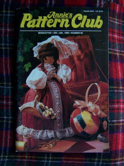 Annies Pattern Club Book # 60 Dec Jan 1990 Crochet Knit Cross Stitch Plastic Canvas