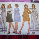 Vintage Hippie Dress Sewing Pattern 3372 Mini - Maxi Gown Puff Flowing Sleeves