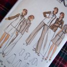 Vintage Sewing Pattern 3091 Sz 10 Misses Suit Tunic Top Short or Maxi Skirt Pants