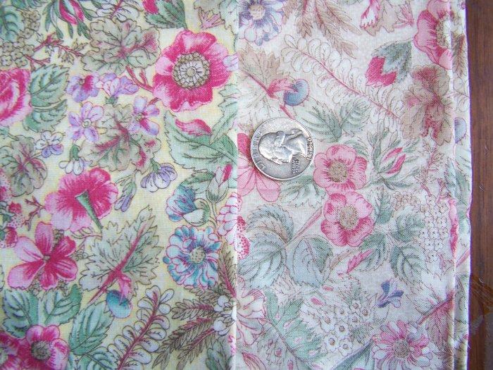 Vintage Floral Fat Quarter Cotton Fabric Lot Flower Fabrics