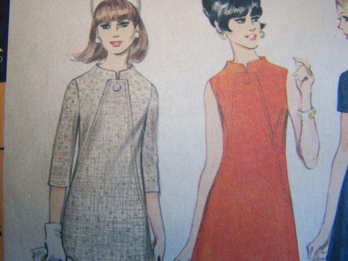 Vintage Space Age A Line Stewardess Vintage Dress Sewing Pattern 8865