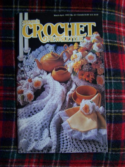 Annie's Crochet Newsletter Pattern Book 62 March April 1993 Crocheting Patterns