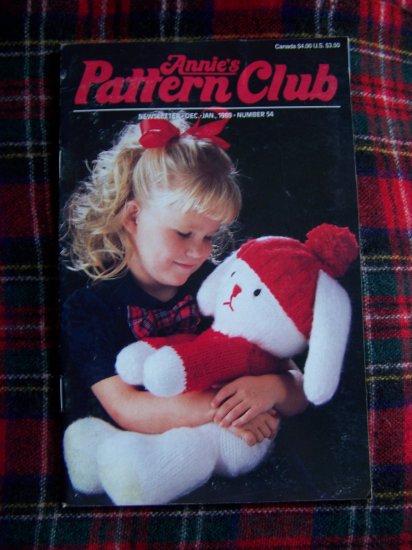 Vintage Annie's Newsletter Pattern Club Book 54 1989 Craft Patterns