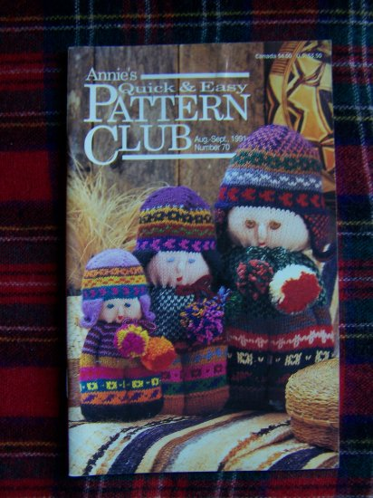 Patterns Plastic Canvas Knitting Crochet Annies Quick & Easy Pattern Book 70