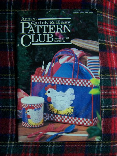 Annie's # 69 Quick & Easy Patterns Club Book June July 1991 Doll Nursery Furniture