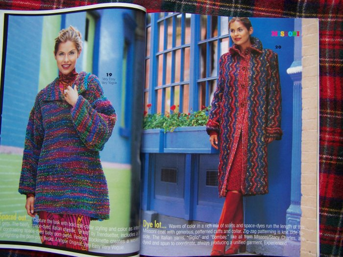 Vogue Knitting Patterns Back Issue Magazine Winter 97 98