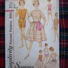 1960's Vintage Teen Sewing Pattern 4418 Separates Shirt Sash Skirt Shorts Bust 32