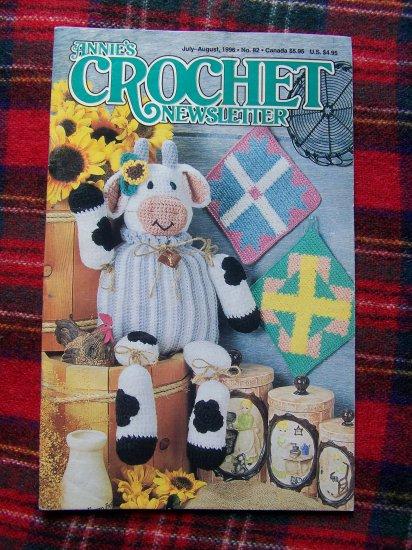 Annie's Crochet Patterns Newsletter # 82 July August 1996 Crocheting Pattern Book