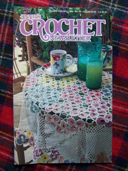 Annie's Crochet Patterns Newsletter Book 67 Jan Feb 1994 Hearts Victorian Tablecloth & Boot