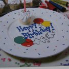 USA 50 Cent S&H  Happy Birthday Cake Plate Pattern TO Paint Decorate Plates