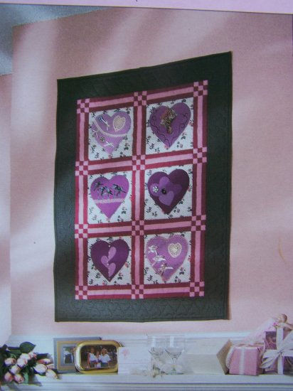 USA 50 Cent S&H  Heart Quilting Pattern Keepsake Memory Quilt