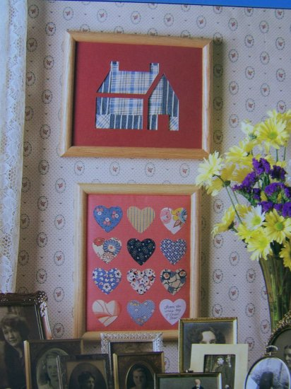 50 Cent USA S&H  Framed Keepsakes Treasured Heirloom Fabric Scraps Pattern