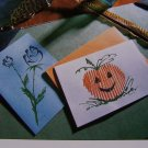 USA 50 Cent S&H  Handmade Scribble Cards Patterns Flower & Jack O Lantern Halloween