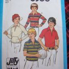 70's Boys Vintage Sewing Pattern 8366 Hippie Shirts Sz 8 Brady Bunch Style