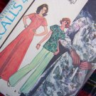 1970s Vintage Sewing Pattern 4924 Yoked Cut Away Dress or Tunic Top