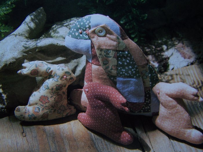 USA 50 Cent S&H  Sewing Pattern Patchwork Stuffed Bunny Rabbit