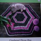 50 Cent USA Shipping Crocheted Throw Rag Rug Hexagon Shape Crochet Pattern