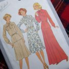 US 1 Cent Shipping  1970s Vintage Sewing Pattern 8311 Dress Top Skirt Sz 14