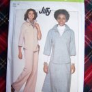1977 Vintage Sewing Pattern 8169 Easy Pullover Top Turn Back Cuffs A Line SKirt Pants Sz 14