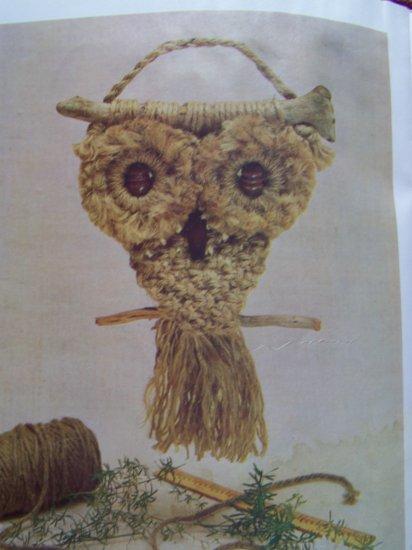 2 Vintage 1970's Macrame Patterns Instructions Books Lot Pot Holders Jewelry Belts + More