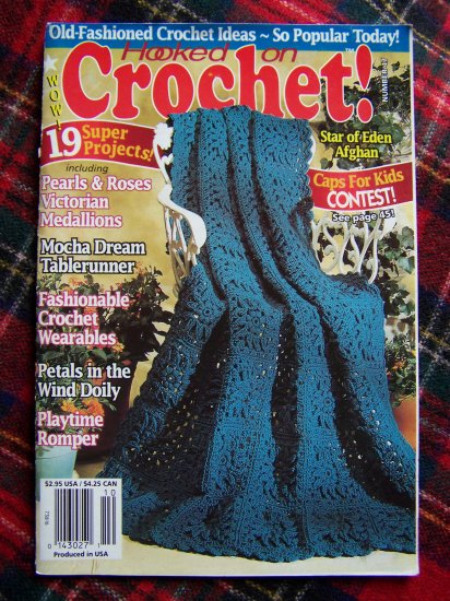 Hooked on Crochet Pattern Book 47 Sept Oct 1994 Crocheting Patterns Doilies Afghans Girls Sweater