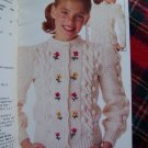Vintage Simplicity Knitting Childrens Sweaters Aran Pullover Cardigan Argyle Penguin