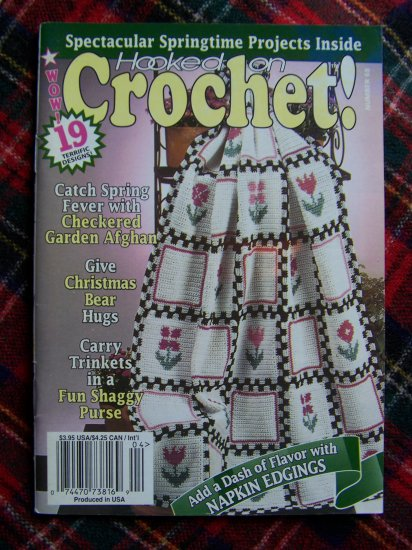 Hooked On Crochet Pattern Book 68 March April 1998 19 Crocheting Patterns