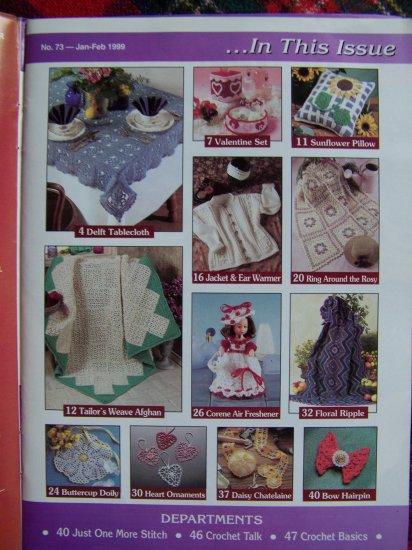 17 Crocheting Patterns Heart Ornaments Afghans Aran Sweater JAcket Doily 73 Crochet