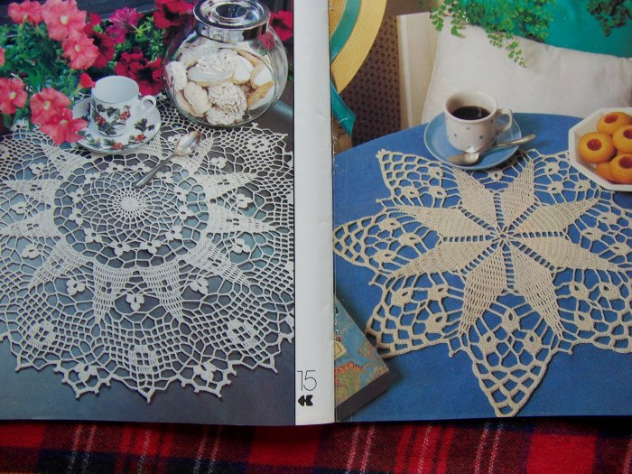 # 6 Vintage 80's Decorative Crochet Pattern Magazine 29 Crocheting Patterns
