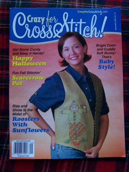 Crazy for Cross Stitch Pattern Magazine # 72 Sept 2002 Needlecraft Patterns