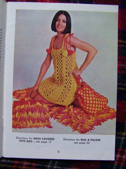 Vintage Crochet Patterns Hippie Mesh Dress Belts Sandals Vest Mini Skirt Bolero