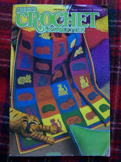 Annie's Crochet Newsletter 88 Cat Afghan Indian Dolls Hobo Backpack Plate Covers