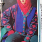 USA 1 Cent S&H  Ladies Knitting Pattern Diamond Design Cardigan Sweater
