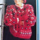 1 Cent USA S&H  1980's Vintage Ladies Fair Isle Sweater Jacket Button Up Knitting Pattern