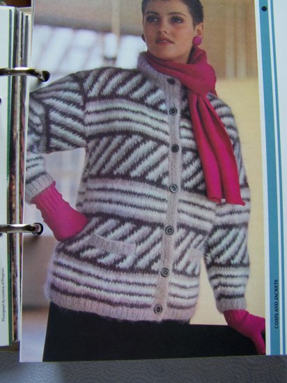 USA 1 Cent S&H Womens Knitted Mohair Cardigan Sweater Jacket Knitting Pattern