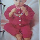 1 Cent USA S&H Babies Cardigan Sweater and Long Pants Vintage KNitting Pattern
