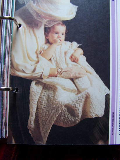 Vintage Knitting Pattern Newborn - 5 months Christening Robe & Shawl Knitted Set