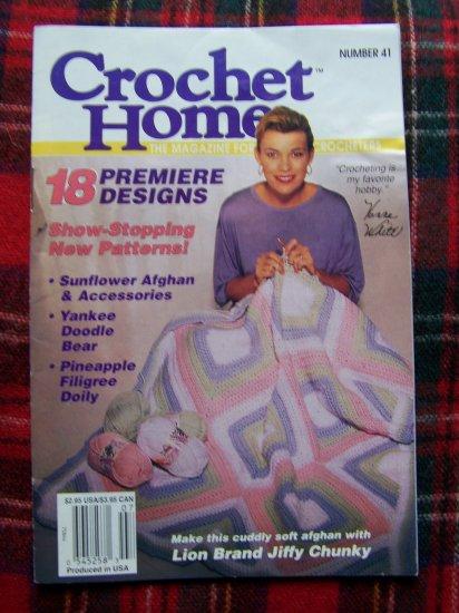 18 Patterns Crochet Home Book 41 June July 1994 Vanna White Crocheting Story