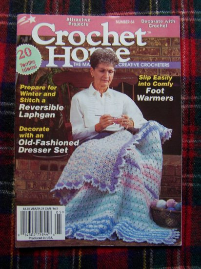 20 Crocheting Patterns Crochet Home Pattern Book 64 April May 1998