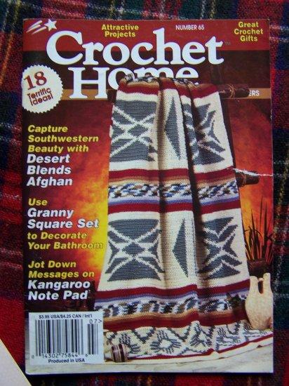 Crochet Home Pattern Book 65 June July 1998 18 Crocheting Patterns