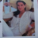 US 1 Cent S&H Vintage Lightweight Sweater Jacket Crochet Pattern Bust 38 40 42