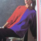 Vintage Knitting Pattern  Two Color Pullover Sweater with Dropped Shoulders