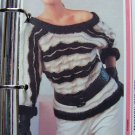 USA 1 Cent S&H Vintage Knitting Pattern Tunic Sweater Mohair Ribbon Knitted Low U Back