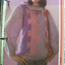 USA 1 Cent S&H Mohair Vintage Knitting Pattern Womens Lacy Collar & Sleeve Sweater