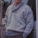 USA 1 Cent S&H Mens Vintage Sweater Knitting Pattern L XL XXL