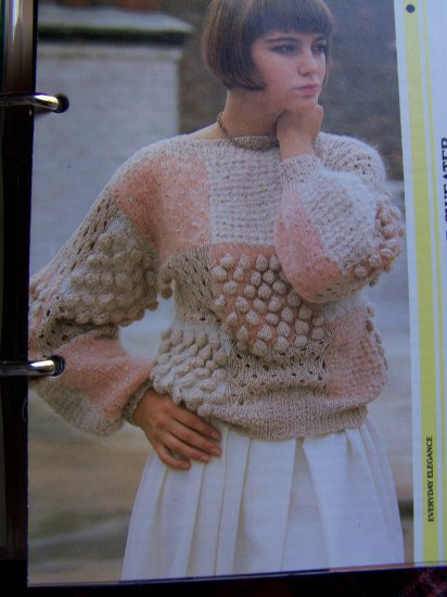 1 Cent USA S&H Vintage Woman's Textured Squares Knitted Sweater Knitting Pattern
